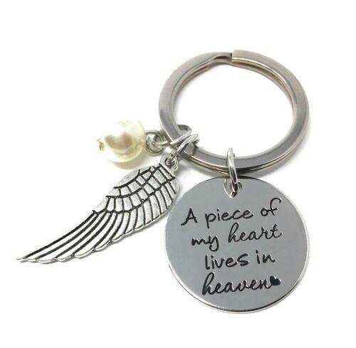 Ein Stück Von Meine Herz Lebt Im Himmel Eingraviert Schlüsselbund Verlust 925