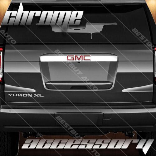 For 2015-2018 GMC Yukon Glossy Chrome Rear Trunk Door Molding Overlay Trim