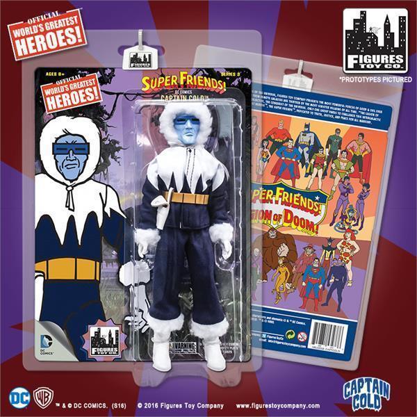DC Retro Mego Kresge Style Super Friends Captain Cold Series 3 Action Figure