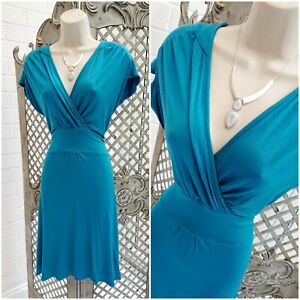 Florence & Fred UK 12 BNWT Teal Stretch Jersey Fit & Flare Dress Smart Casual