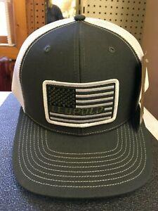 3c31f2ce Leupold #112 Flag Patch Trucker Hat, Charcoal / White, 172603 Men's ...