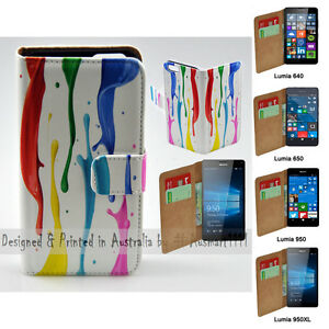 For-Nokia-Series-Colour-Paint-Print-Theme-Wallet-Mobile-Phone-Case-Cover