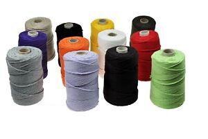Kordeln für Makramee Garn Baumwoll viele Farben zur Auswahl 3 mm x 200m Schnur