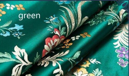 Hazlo tú mismo Chino Satén Tela Floral Begonia Damasco Brocado Tela de Costura Artesanía Decoración