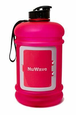 NuWave Fitness Half Gallon 74 OZ 2.2L Water Jug Dishwasher Safe Large Water Bo