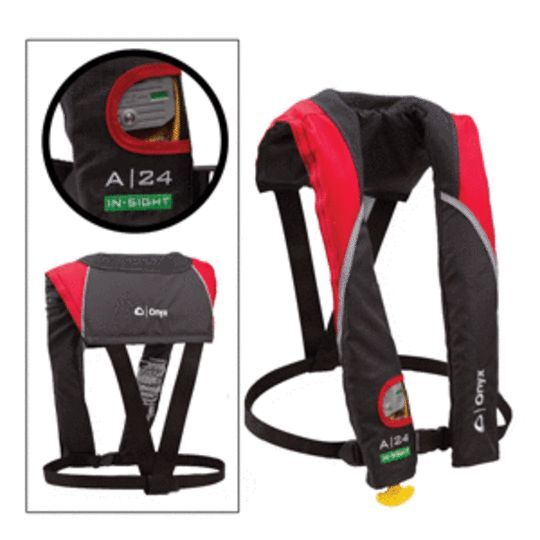 BRAND NEW - Onyx A-24 In-sight Automatic Inflatable Life Jacket Red 133200-100-0