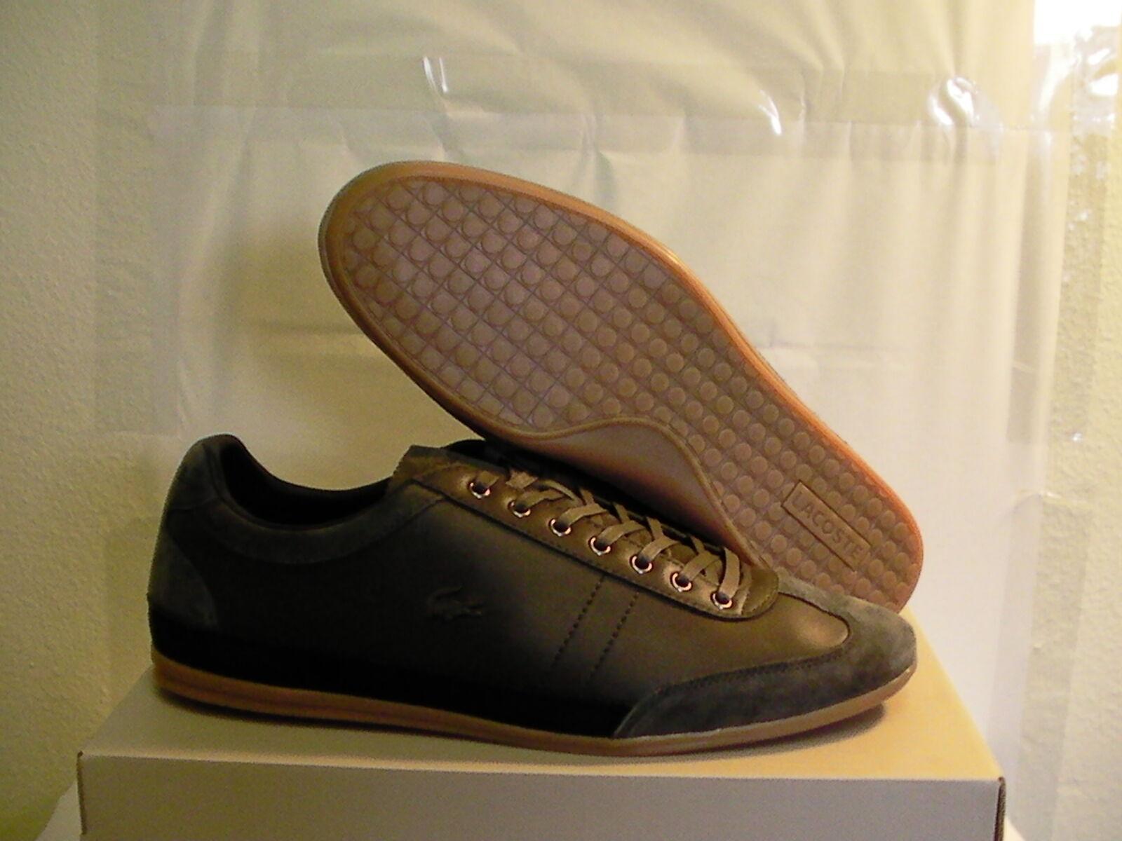 Lacoste Chaussures Décontractées Misano 15 SPM LTH SDE Gry Taille 8 US nouveau AVEC BOITE