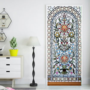 3D-Self-Adhesive-Stained-Glass-Window-Living-Room-Door-Murals-Wall-Sticker-Decal