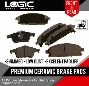 CERAMIC Brake Pads 2 Sets Fits Hyundai Tiburon 2003-2008 2.0L /& 2.7 FRONT//REAR