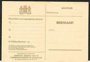 Netherlands covers 1914-1918 Advertising Fieldpost PC not sent