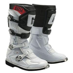 Dettagli su Stivale motocross Gaerne GX 1 Colore Bianco N 46