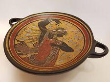 Poseidon Greek God Rare Hellenic Ancient Art Pottery Tray Aged Kylix