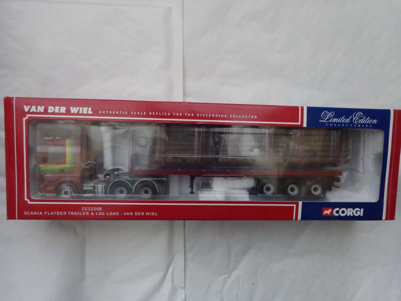 1 50 remolque corgi CC12208 Scania Plano & Van der Wiel camión de Cochega de registro