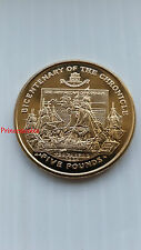 RARE*2001*UNC*GIBRALTAR BICENTENARY OF THE CHRONICLE £5 FIVE POUND COIN-KM#953