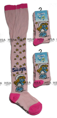 NEW!THE SMURFS Girls Kids Pink Tights,Cotton Rich,18-24m,3-4,5-6 Years Bday Gift