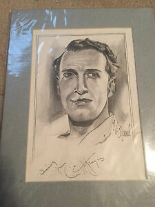 OTTO KRUEGER DRACULA'S DAUGHTER FAME SIGNED 8X10 MATTED PORTRAIT PICTURE