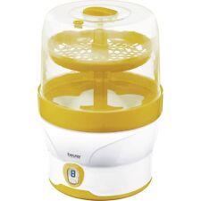 Beurer BY 76 Sterilisationsgerät Sterilisator für 6 Babyflaschen, weiss-gelb