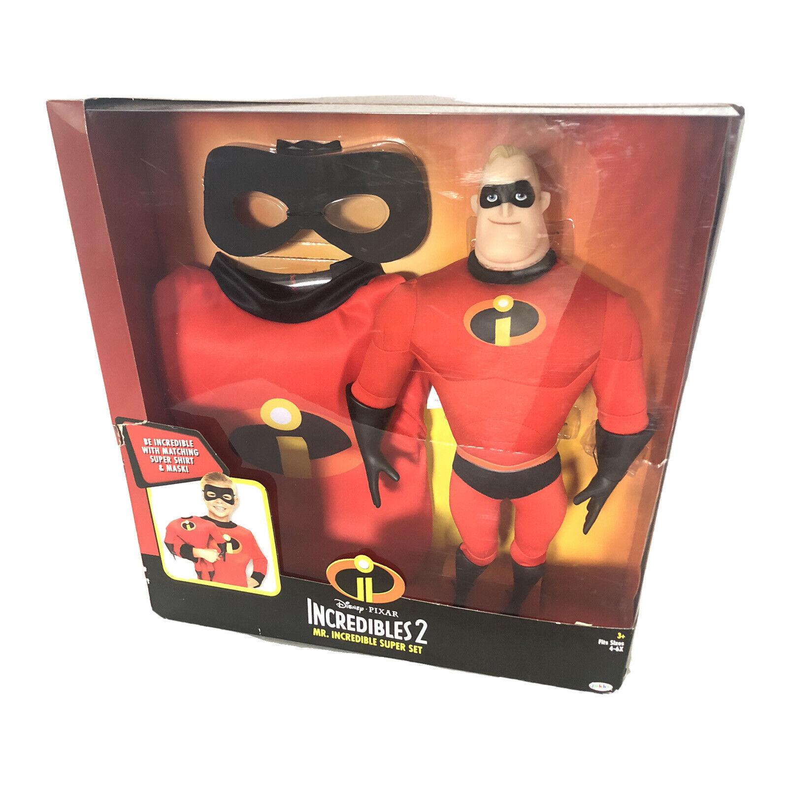 Details about  /Disney Incredibles 2 Mr Incredible Super Set Figure Kids Shirt Mask Dress Up