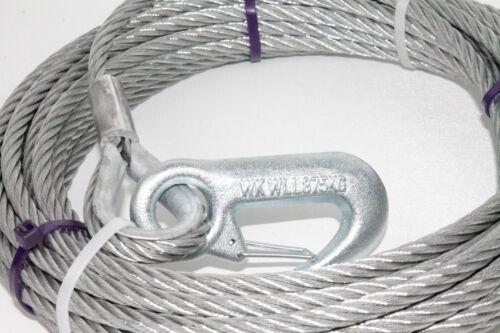 Câble en Acier pour Treuil D/'Acier Rope 12m Ø4mm avec Crochet Din 12385 L2748