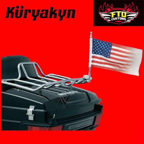 "Kuryakyn Vertical Mount Flags Universal Mounts for 1//2/"" Tubing 4254"