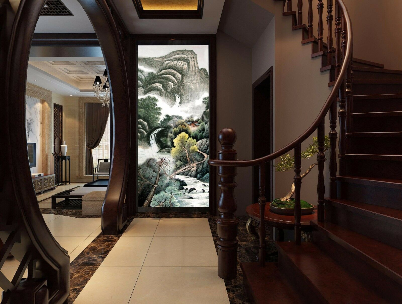 3D Mountains rivers 342 Wall Paper Wall Print Decal Wall Deco Indoor Wall Murals