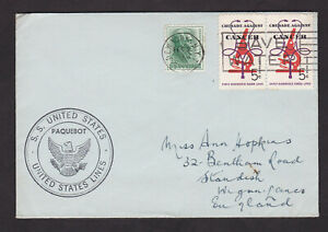 USA-United-States-S-S-Paquebot-Cover-New-York-to-England