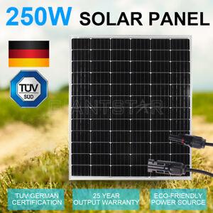 GISTA-12V-250W-MONO-Solar-Panel-Kit-Caravan-Camping-Power-Battery-Charging-OZ