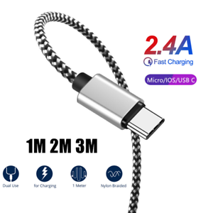 Charger-Sync-Data-Cable-For-iPhone-MAX-XS-6-6S-Plus-Nylon-Charge-Cord-1M-2M-3M