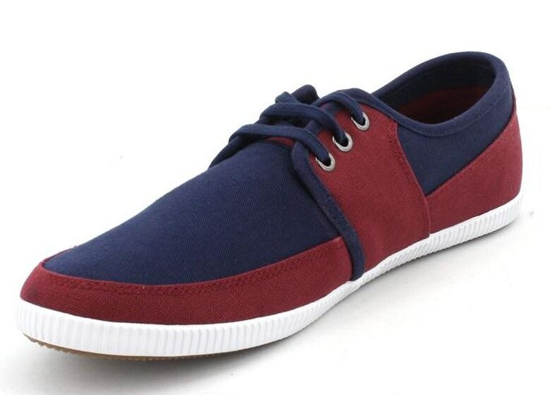FRED PERRY shoes Unisex Trainers Trainers Trainers Tonic Canvas B4185 Red Navy White UK 6 - 12 4e4226