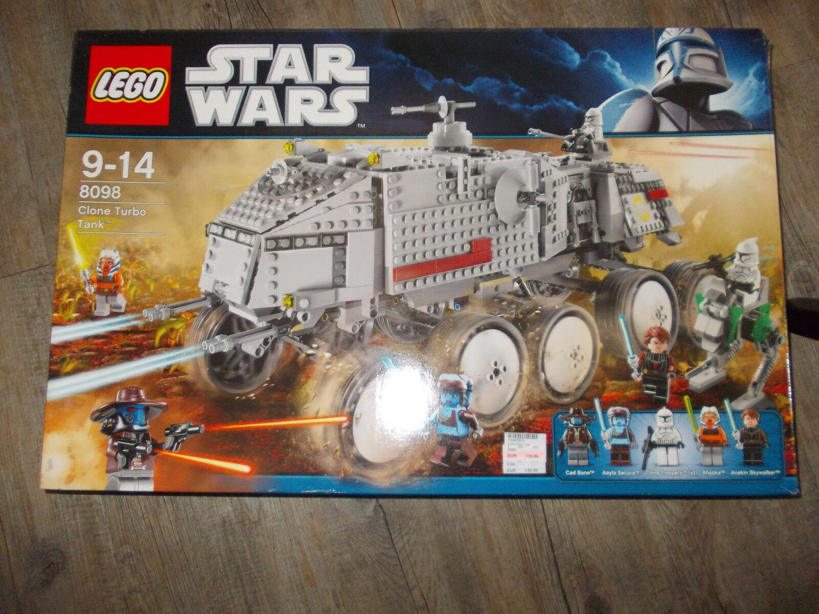LEGO 8098 Clone Turbo Tank - neuwertig - gereinigt - mit Beschreibung im Karton