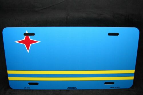 ARUBA FLAG METAL NOVELTY LICENSE PLATE TAG FOR CARS