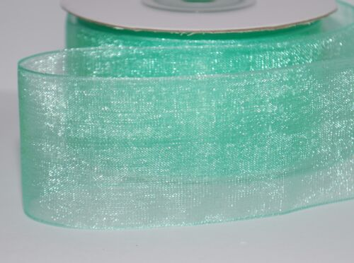 Many Colours PREMIUM Quality  Woven Edge ORGANZA Ribbon CUT 3~6~12~19~25~38mm