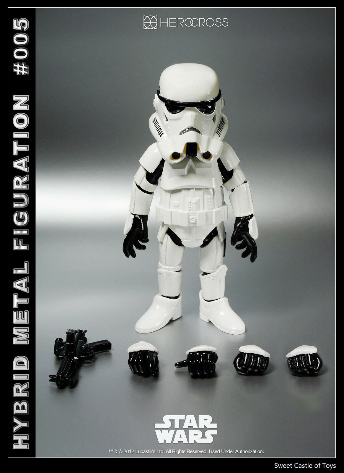 86 Hero HEROCROSS - 14cm Hybrid Metall Star Wars Figuration HMF 005 Stormtrooper