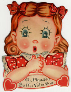 I-039-ve-Lost-my-Head-Over-You-Vintage-Valentines-Greeting-Pop-Up-Card-Circa-1940-039-s