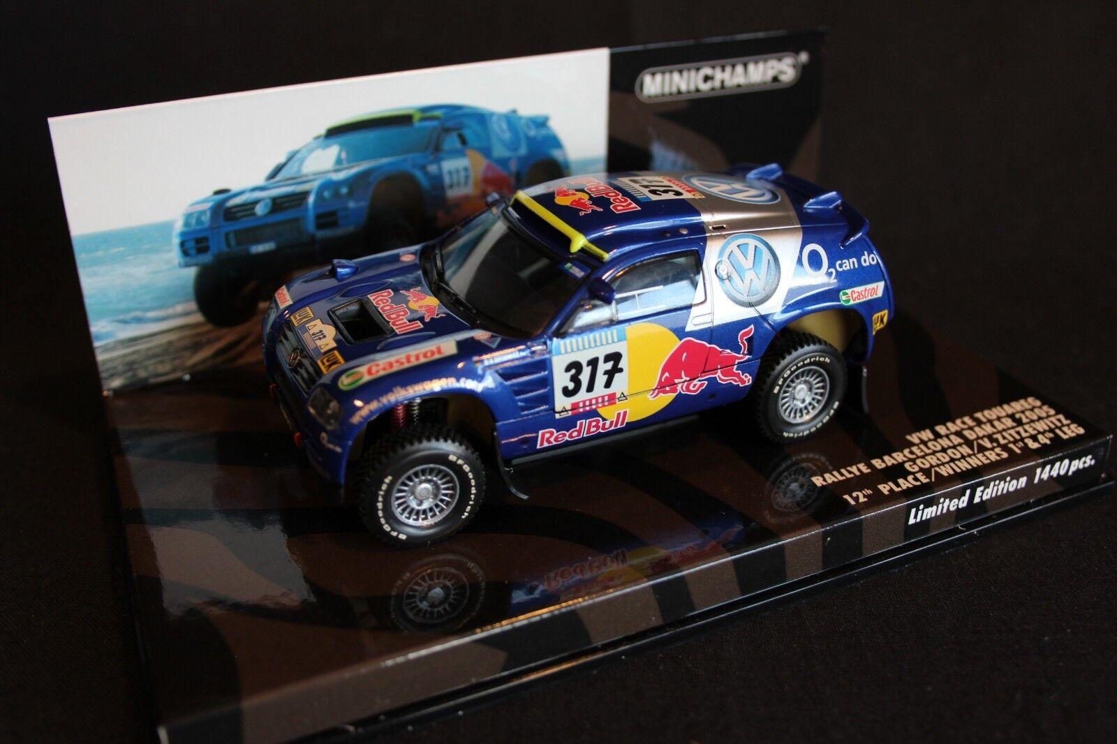 Minichamps VW Race Touareg 2005 1 43  317 Gordon   V. Zitzewitz Dakar Rally