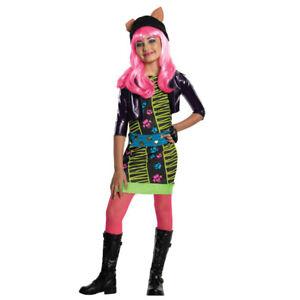 Monster High Kostuem Ebay.Kinder Monster High Kostum Halloween Karneval Fasching Katzen Tiger Madchen Ebay
