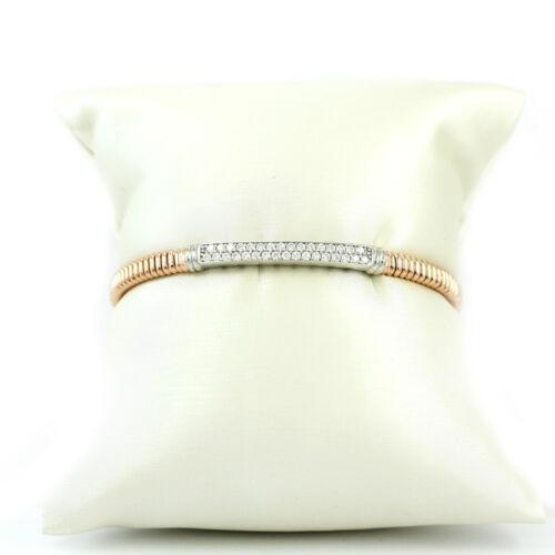 "#3499 7/"" NEW bracelet, 925, 10.6g Rose Gold-Plated Sterling Silver Bangle"
