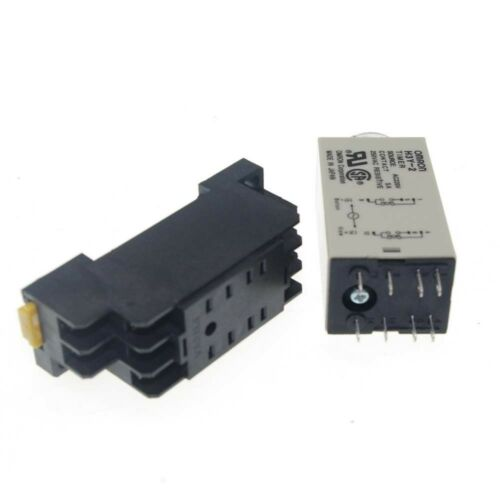 24VAC H3Y-2 Power On Time Delay Relay Solid-State 5 MINUTE DPDT 8Pins /& Socket