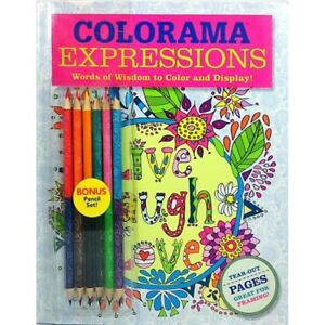 Image Is Loading NEW Colorama Expressions Words Of Wisdom To Color