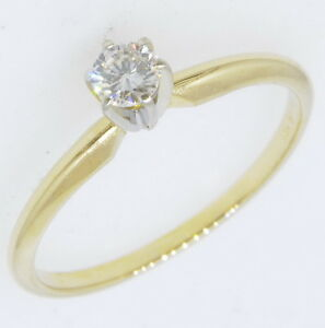 14k-Yellow-Gold-1-5-Ct-Round-Brilliant-Diamond-Solitaire-Engagement-Estate-Ring