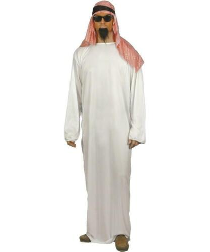 Mens Fancy Dress Costume White Arab Outfit
