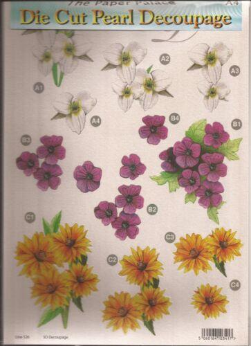 Floral A4 DIE CUT 3D DECOUPIS feuille 051-529