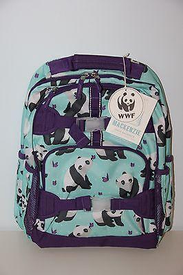 Pottery Barn Kids Aqua Amp Purple Panda Small Backpack Nwt