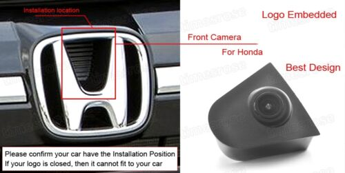 Wide Degree CCD Car Front View Camera Logo Embedded for Honda JAZZ 2016-2018 17