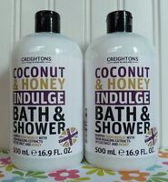2 Creightons Coconut Honey Bath & Shower Body Wash 16.9 Oz Each Made In England