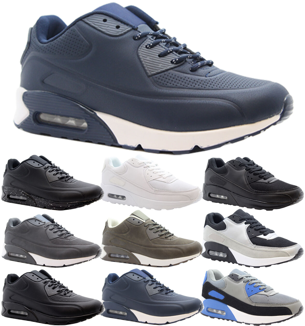 Mens Casual Shock Running Fitness Gym Boys Shock Casual Absorbing Sports Trainers Shoes Size 7e09c6