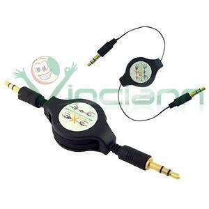 Cavo-aux-audio-jack-3-5mm-per-Sony-Xperia-T-LT30i-U-ST25i-J-ST26i-retrattile-AX1