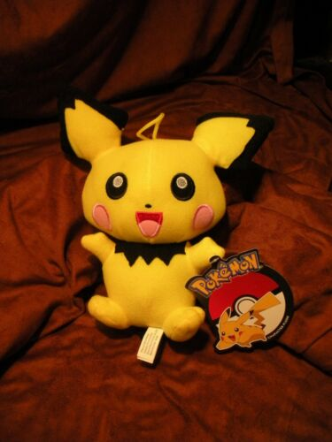 """New with Official Tags Toy Factory 6/"""" Pichu Plush Pokemon"""