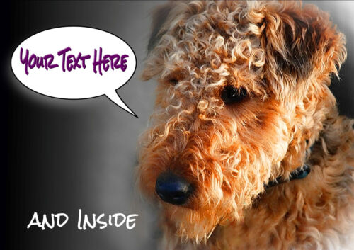 PERSONALISED WELSH TERRIER DOG BIRTHDAY ANY OCCASION CARD Illustrated inside too