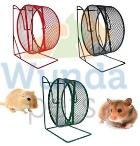 TRIXIE-17CM-ALL-METAL-SYRIAN-HAMSTER-GERBIL-FREE-STANDING-CAGE-WHEEL-3-CLR-61001